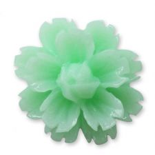 14mm Mint Lucite Flower Resin Flatback Cabochons